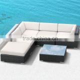 Outdoor Garden Back Yard I shape Poly Rattan Wicker Sofa Set                                                                         Quality Choice