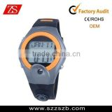 Hot sale wrist watch heart rate monitor, unisex latest watch plastic, trendy watch sports