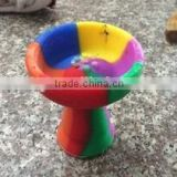 new style colorful silicon rubber hookah shisha bowl