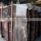 Cheap coffee brown marble polished slab