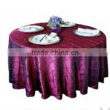 Chameleon pintuck tablecloth, banquet table cover,table linen/wedding table cloth                                                                         Quality Choice