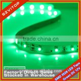 12V LED Strip SV Green Led Flexible Tape SMD 3528 300LED 5 Meter No-waterproof CE RoHs Lowest Price