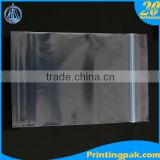 double ziplock pe bag transparent zip bags with slider facial tissue plastic bag