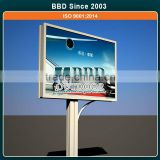 Led light steel structure medium size street billboard advertising