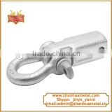 Recovery hitch pin with bow shackle trailer parts