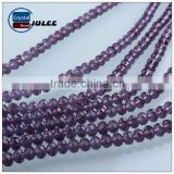 Purple color 4mm glass beads aaa quality cheap price crystal wholseale beads for jewelry making                                                                                                         Supplier's Choice