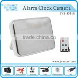 Motion Detection Remote Control clock camera dvr, 1280*960 Mirror clock with long work time clock camera,max 32GB JVE-3311G