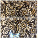 Gold and black decorative polished crystal flower pattern flooring