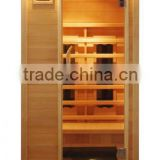 one person portable solid wood far infrared sauna room