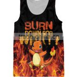 Fashion women gym 3d man vest cotton ladies mens tank top