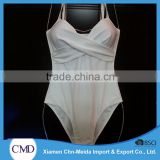 The Brief White Cross-Front Swimwear Women One-piece