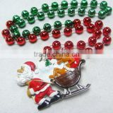 Wholesale Christmas Beads Poly Medallion Beads Christmas Necklaces