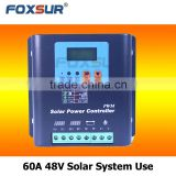Foxsur Free shipping 60A 48V PWM Solar Charge Controller Solar Panel Battery Regulator Safe Protection Controller