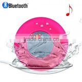 Waterproof Mini Bluetooth Speaker With Suction Cup Rose Red