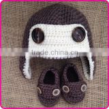 earflap baby winter hats and shoes set newborn photo props baby boys crochet hats