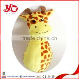 wholesale yellow giraffe stick rattle , plush toy giraffe rattle for baby