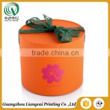 Fancy small light bio-degradable safe customized cute round jewel box with ribbon