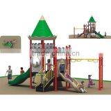 Mini castle-style outdoor kindergarten play equipment with 16 optional site sizes