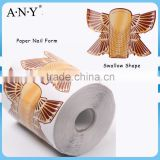 ANY Crystal Beauty Nails Design Sallow Shape Paper Dual Form Nail System Oval Nails