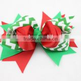Lastest New Year Fashion X-mas Kids Boutique Hair Bow Baby Girl Christmas Decorative Bows With Clip