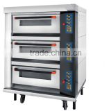 Electric wire oven series 3 Deck 6 Trays micro-panel commercial baking Oven With Steam