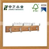 FSC Wholesale solid wood door wall mounted clothes hook wooden wall hanging clothes hook