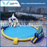 Newest Design Water Playground/ Swimming Pool With Slide