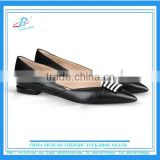 2016 Office Lady pretty dress shoes women black leather flat low heel shoes women flat casual shoes