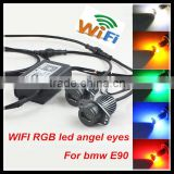 for bmw e60 led headlight 20w wifi control rgb angel eyes head lamp for bmw e90 color changing led angel eyes marker light