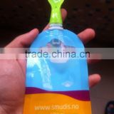 small MOQ silicone baby reusable food pouch/8.6mm spout baby food pouch                                                                                                         Supplier's Choice
