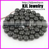KJL-A0204 high quality natural jewelry black matt onyx round beads,charm agate jewelry beads for bracelet and necklace making