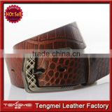 Hot new candy man crocodile leather men's leather belt Korean style fashion wholesale