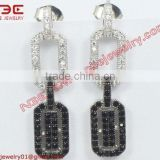 Fancy design micro pave setting 925 silver factory artisan handcrafted AAA grade cz wholesale 925 silver jewellery earrings