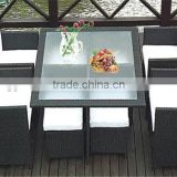 Cheap poly rattan furniture with cushion & pillow, KD rattan outdoor furniture