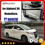 2016 alphard body kits fit for 2016 year alphard to Modellista aero style PP alphard front lip, grille, door trims