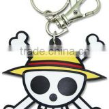 Skull shaped PVC keychain