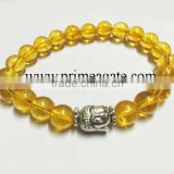 wholesale fashion agate stone natural Citrine bracelet with Buddha