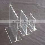 Clear Acrylic Slant Back Ad / Sign Holder, Plastic Slanted Picture / Photo Frame