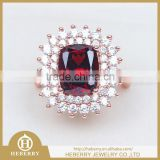Factory Price China Jewelry Sri Lanka Garnet Silver Ring