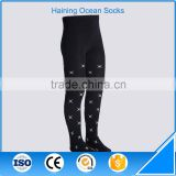 Oem custom kids write pattern black tights