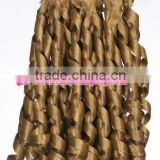 Wholesale synthetic blonde afro curly hair weave for braiding , hair extension,african hair