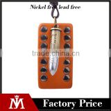 Fashion Bullet Charm Leather Dog Tag Necklace For Mens