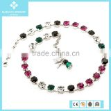 Top Selling 2015 Latest Design Beaded Necklace with Rainbow Colors Austria Crystals