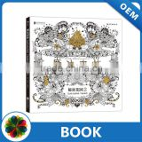 Popular Factory Wholesale Cheap Hand- paint Secret Garden Adult Coloring Book