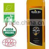 Organic argan oil for culinary use- certified Ecocert /USDA/ ISO 9001