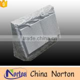 High quantity european styles cheap china gray granite book shape headstone carved with flower NTGT-055L