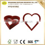 heart shape factory custom wooden display rack on sale