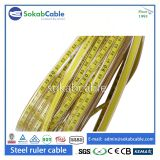 Steel ruler cable with copper conductor
