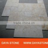 Cream travertine paver