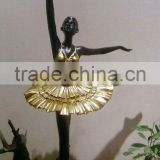 color painting girl cast brass sculpture